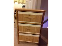 6 drawer chest and 2x 3 drawer bedside tables