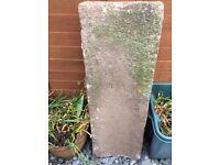 Solid Cornish granite curved trough x2
