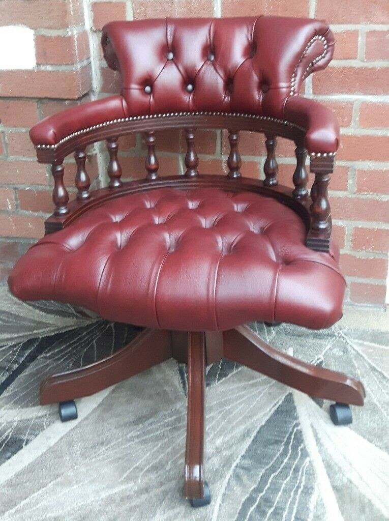 Incredible Captains Swivel Chair 100 Deluxe Red Cow Hide Leather In Burnley Lancashire Gumtree Dailytribune Chair Design For Home Dailytribuneorg