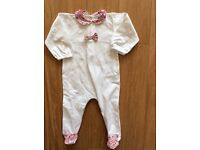 Gorgeous baby girl all in one, size 4-6m, Liberty detail*