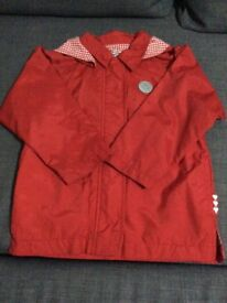 Girls red lightweight jacket Age 5 years