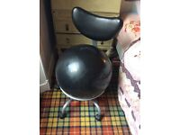 Ball chair frame - for back pain sufferers