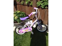 Apollo petal girls bike with stabilisers