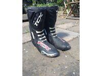 Men's TEX Motorbike Boots, Size 46
