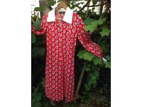 Vintage / retro red dress - designer Polly Peck by Sybil Zelker