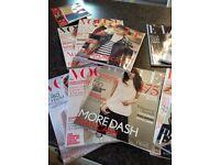 Joblot VOGUE, COMPANY, BAZAAR, ELLE magazines. Like new approx 35 magazines