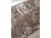 Shaggy Rug - Good clean condition - Carpet - Gold Brown Taupe