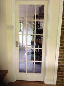 3 Original 1960s mahogany glass doors with original glass