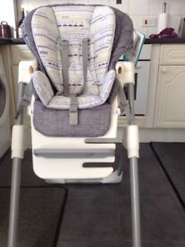 As new Joie mimzy high chair suitable from 3 months -3yrs .