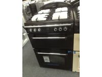 Leisure gourmet 60cm black gas cooker. £349 RRP £549. New/graded 12 month Gtee