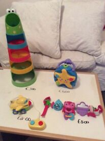 Selection of baby/toddler toys as priced