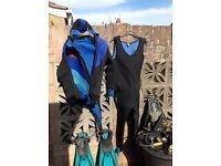 Ideal start up pack for medium build diver