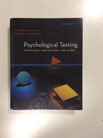 Psychology textbook: Psychological Testing