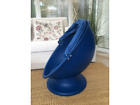 IKEA LÖMSK Blue/light blue swivel egg chair WITHOUT HOOD