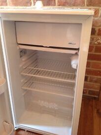 White fridge with ice making compartment