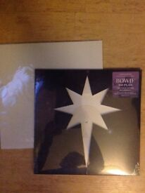 David Bowie no plan ltd edition white vinyl sealed and sealed lithograph