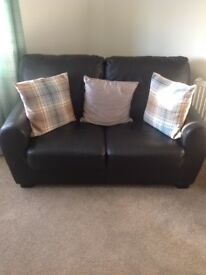 Two seater black couch x2