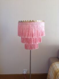 Pink ceiling light shade