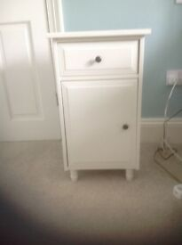 Cream bed side cabinet