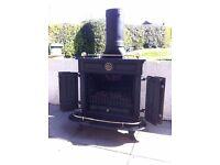 STOVE, FIRE, Black Cast Iron, (lpg) Gas Fire,
