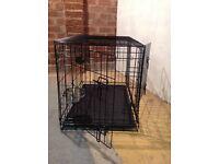 Metal two door medium dog cage