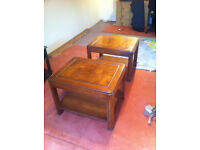 WOODEN STANDARD LAMP TABLES