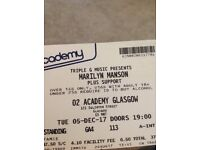 Marilyn Manson Glasgow 5/12/17 standing NEED SWAP FOR WOLVERHAMPTON!