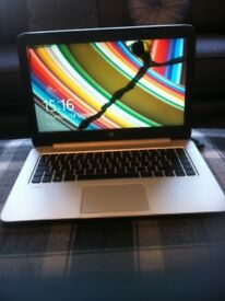 HP STREAM LAPTOP, USED DOMESTICALLY. INK LEAK ON SCREEN COULD BE USED FOR SPARES OR REPAIRS.