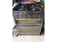 Smeg oven & stainless steel splashback 70cm wide