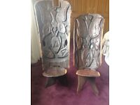 Beautiful hand carved wooden chairs