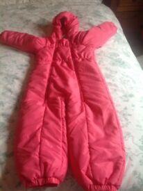 Girls snow suit