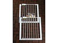 2x Lindam Sure Shut Securus Safety Stair Gate - Pressure Fit, Good Condition, £10 each