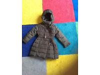Girl's Grey Padded Feather Lined Coat Age 5 £15.00