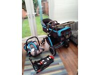 i-Safe System - i DiD iT Trio Travel System Pram & Luxury Stroller 3 in 1 inc. car seat & base