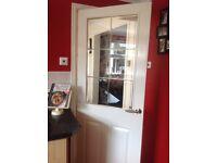Internal half glass doors