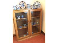 Vintage ERCOL Windsor Glass Display/Bookshelf