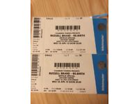 2 tickets for Russell Brand 18/05/18 £90