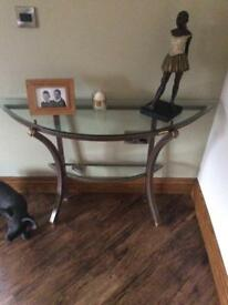 Console table and matching mirror