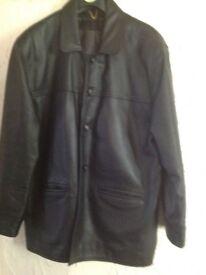 Men's heavy Schotts leather jacket XL