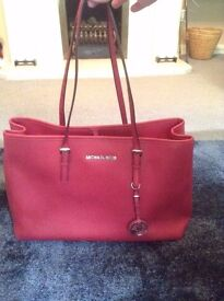 Michael Kors Genuine large red womens handbag great condition!