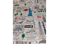 New York single duvet with matching bunting