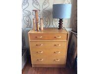 G Plan Brandon oak chest of drawers 1950s vintage
