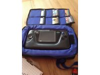 Sony Game Gear with Case,Magnifier Screen, Games.