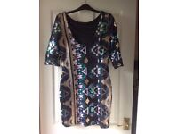 Sequin Party Dress - River Island-Size 10