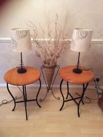 Occasional/coffee tables, table lamps