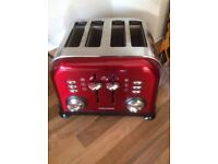 Morphy Richards red toaster with FREE kettle