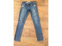 Ladies Hollister Skinny Distressed Jeans