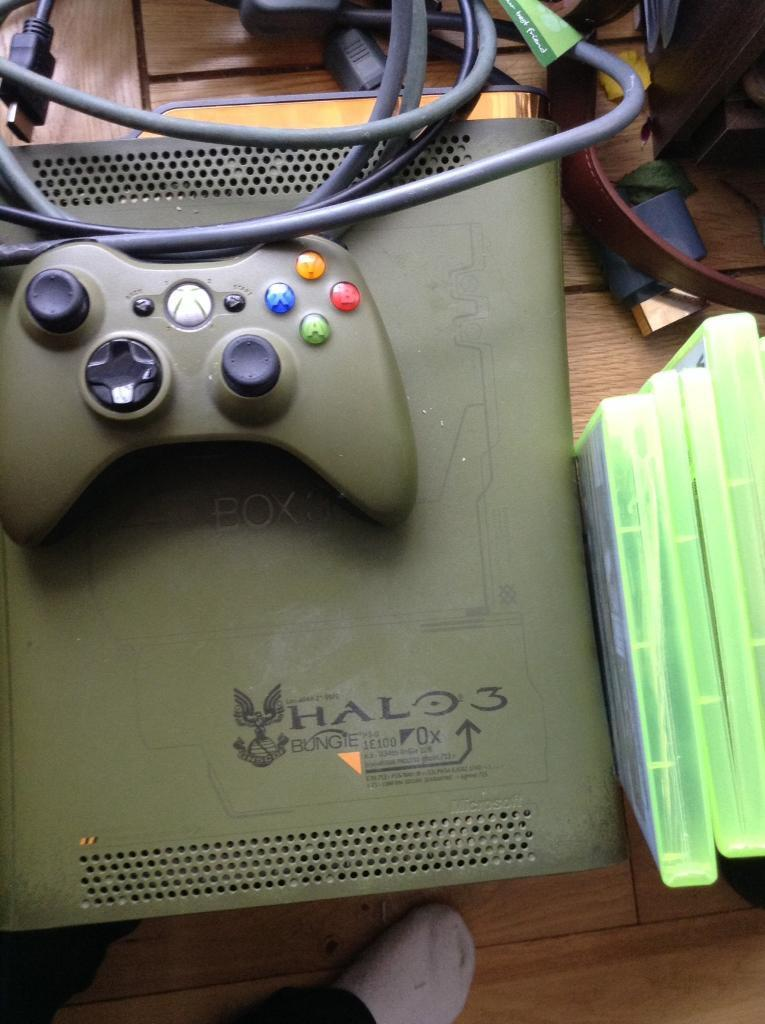 Limited edition halo 3'xbox 360 with 5 games and all cables working order |  in Bathgate, West Lothian | Gumtree