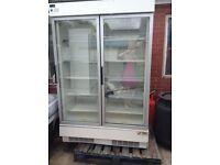 Commercial Verco Twin Door Standing Freezer