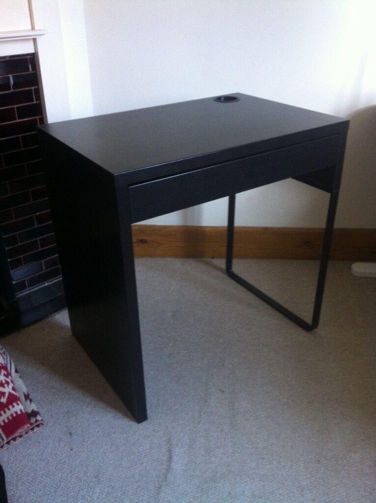 Ikea Micke Computer Desk Black Brown 73x50 Cm
